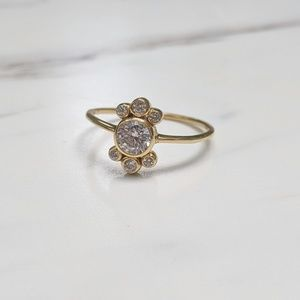 •Burst• 14k Gold Plated Silver Cubic Zirconia